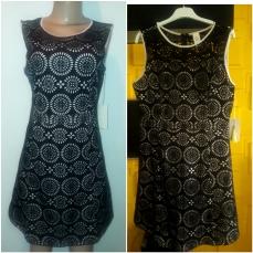 Black A - Line lacy sheath dress. NGN 13000