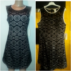Black A - Line lacy sheath dress. NGN 13000 SOLD OUT