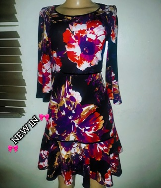 A- line 3qts sleeved floral dress. NGN 13000