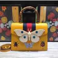 Gucci yellow structured handbag with bamboo handle. NGN 120,000 SOLD OUT