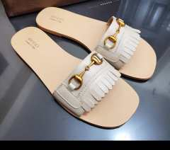 Nude leather flats by Gucci. NGN 35,000