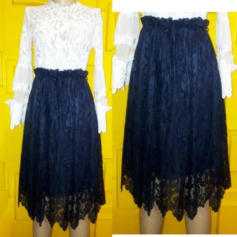 Zara lacey navy skirt. NGN 13000