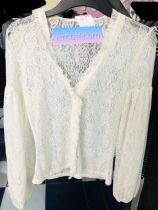 White H and M lacy top. NGN 6000