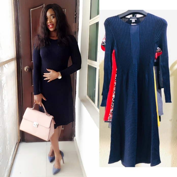 H and M pweetty navy blue A-line dress. NGN 11000