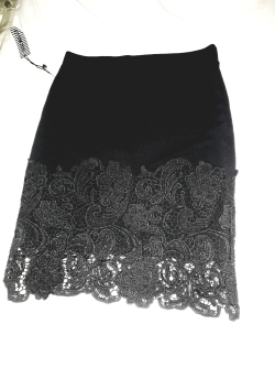 Haute and Monde black bandage skirt with black lacy combo. NGN 10000