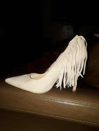Fringed nude shoes NGN 13,500