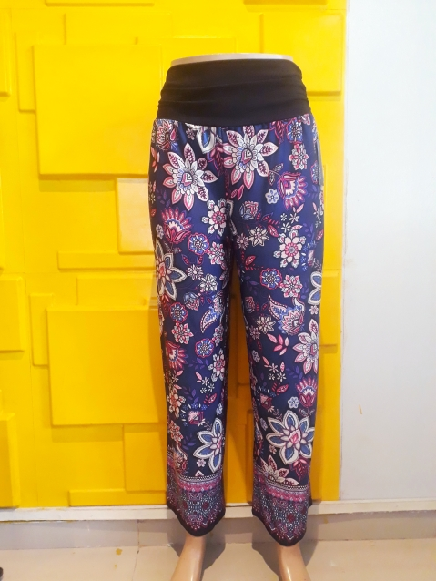 Multicoloured palazo pants. N7500
