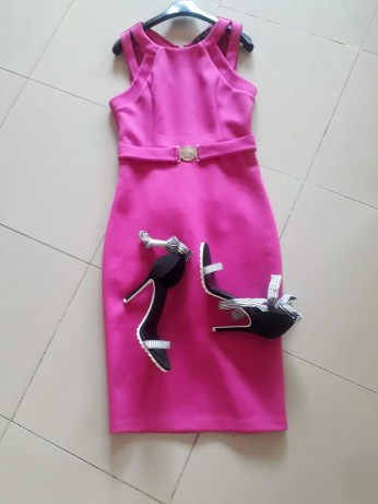 Pink dress by Guess. NGN 13,500