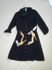 Black shirt dress. NGN 10,000