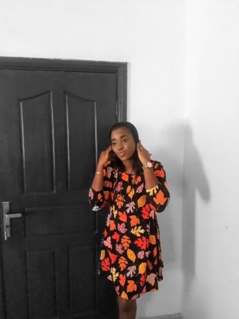 Floral A line shift dress. NGN 8500