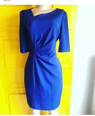 Tahari royal blue dress. NGN 16000